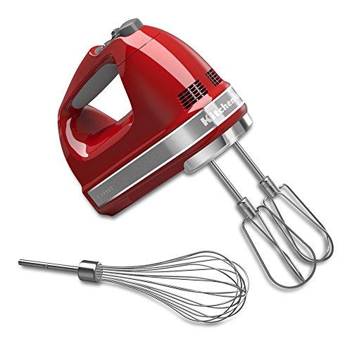 KitchenAid 7-Speed Hand Mixer   Empire Red (Renewed)
