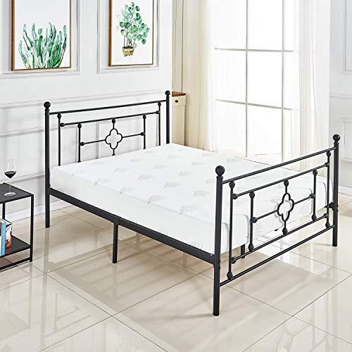 ZoonaeHaii Metal Bed Frame Platform with Steel Headboard and Footboard Guarantee: 5 yr guarantee.