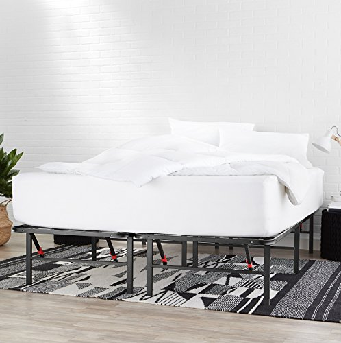 """AmazonBasics Foldable, 14"""" Metal Platform Bed Frame with Tool-Free Assembly, No Box Spring Needed - Full"""