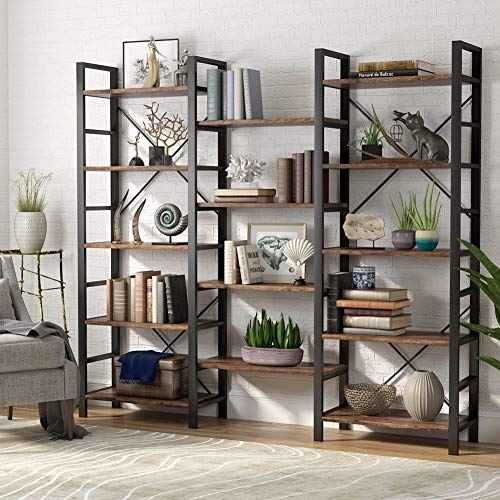 Tribesigns Rustic Triple Wide 5-Shelf Bookcase, 5 Tier Etagere Large Open Package deal Dimensions: 70.9 x 12.6 x 70.zero inches