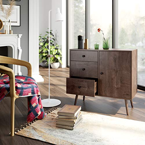 HOMFA Wide Dresser with 3 Drawer Chest and 1 Side Cabinet Package deal Dimensions: 31.5 x 15.four x 29.7 inches