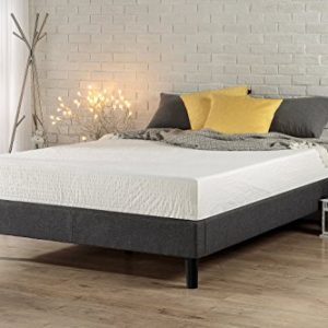 Zinus Curtis Essential Upholstered Platform Bed Frame, Queen