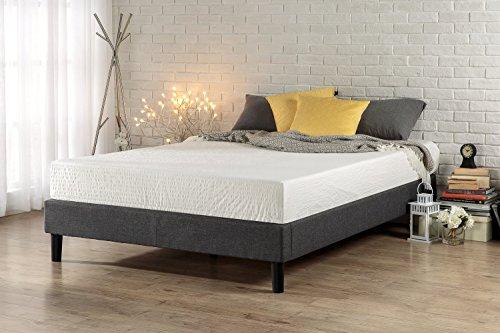 Zinus Curtis Essential Upholstered Platform Bed Frame, Queen