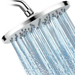 WarmSpray Rainfall Shower Head High Pressure with 9 Inch Large Coverage Rain Shower Heads Spray Relaxation and Adjustable Brass Swivel Ball Joint with Filter