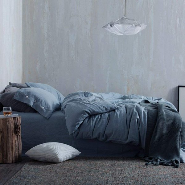 NANKO Duvet Cover Set Queen, 3 Piece - 1200 TC Hotel Luxury Microfiber Down Comforter Quilt Bedding Covers with Deco Buttons, Zipper, Ties - Modern Style for Men Women Bedroom, Gray/Grey