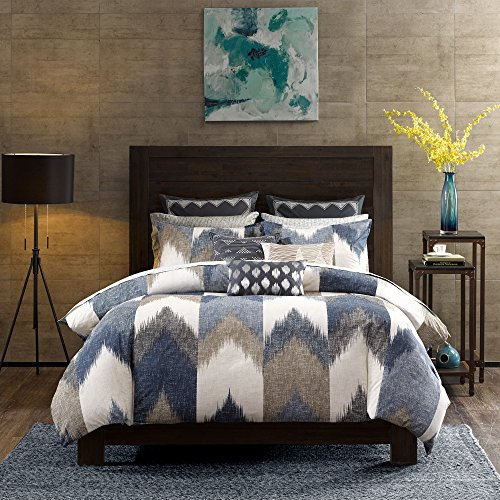 Ink+Ivy Alpine Cotton Comforter Mini Set Navy King/Cal King