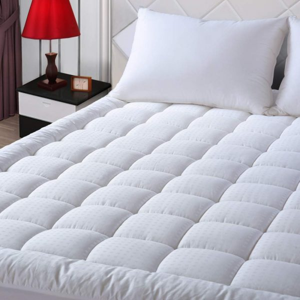 """EASELAND King Size Mattress Pad Pillow Top Mattress Cover Quilted Fitted Mattress Protector Cotton Top 8-21"""" Deep Pocket Hypoallergenic Cooling Mattress Topper"""