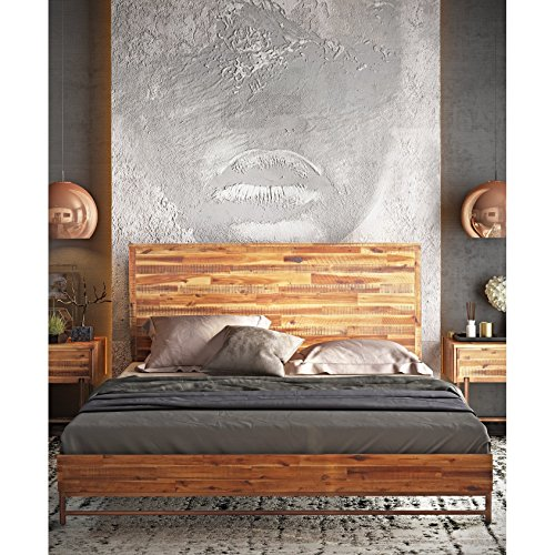 Tov Furniture Bushwick Collection Acacia Wood Bed Bundle Dimensions: 64.2 x 86.Three x 45.Three inches