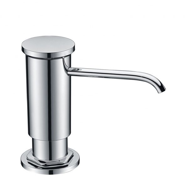 GICASA Chrome Built in Hand Liquid Sink Soap Dispenser with ABS Pump Head, Countertop Kitchen Sink Soap Dispenser with PP bottle Copper Sprayer