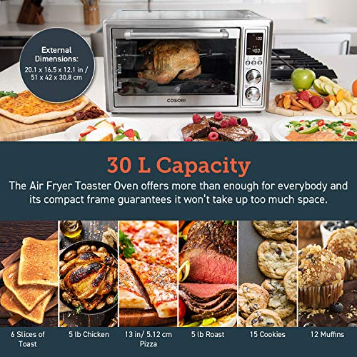 COSORI 12-in-1 Air Fryer Toaster Oven Convection Roaster with Rotisserie Launch Date: 2019-09-22T00:00:01Z