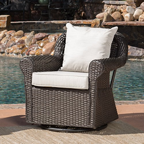 Christopher Knight Home Augusta Patio Furniture ~ Outdoor Wicker Swivel Rocker (Glider) Chair (Single)
