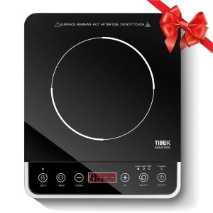 Portable Induction Cooktop, 1800W Countertop Burner Induction Hot Plate with LCD Sensor Touch, 15 Temperature Power, 180 Minutes Timer, 3 Safety Lock, Wear Resistance (Security,ETL Approved)