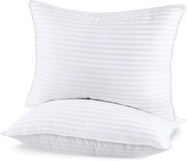 Utopia Bedding (2 Pack Premium Plush Pillow - Fiber Filled Bed Pillows - Queen Size 20 x 28 Inches - Cotton Pillows for Sleeping - Fluffy and Soft Pillows