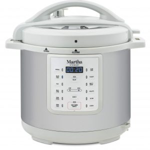 Martha Stewart 8 Qt 7-in-1 Everything Pressure Cooker, Programmable Slow Cooker, Rice Cooker, Steamer, Sauté and Sear, Cake Maker, Egg Cooker, Yogurt Maker, with Warmer and Delay