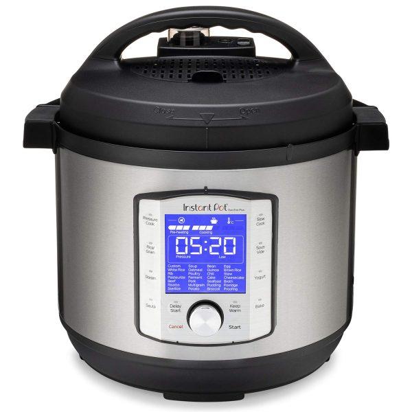 Instant Pot Duo Evo Plus 9-in-1 Electric Pressure Cooker, Sterilizer, Slow Cooker, Rice Cooker, Grain Maker, Steamer, Sauté, Yogurt Maker, Sous Vide, Bake, and Warmer, 8 Quart, 10 Programs