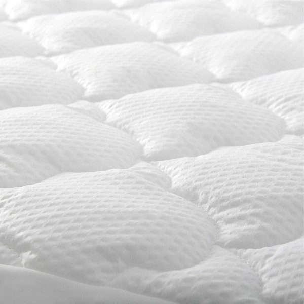 Twin Mattress Pad Thick Quilted Mattress Topper Cover, Super Soft Breathable and Noiseless Down Alternative Fiber Pillow Top Mattress Pad with Deep Pocket Fits Up to 14 inch Mattress