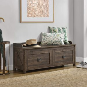 Ameriwood Home SystemBuild Storage Bench, Rustic