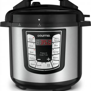 Gourmia GPC625 6 Qt Multi-Mode SmartPot Pressure Cooker | 13 Cook Modes | Removable Nonstick Pot | 24-Hour Delay Timer | Automatic Keep Warm | LCD Display | Pressure Sensor Lid Lock | Free Recipe Book