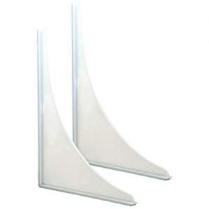 EZ-FLO 15261 Bathroom Shower Splash Guard, 2 Pack, 4.1 x 8.4 x 9.9, White