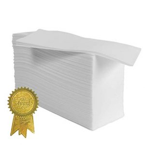 Magnifiso Guest Towels - 100 Pk. - Made in The USA - Super Soft & Absorbent - for Kitchen, Bathroom, Office, Dinners & Special Events.