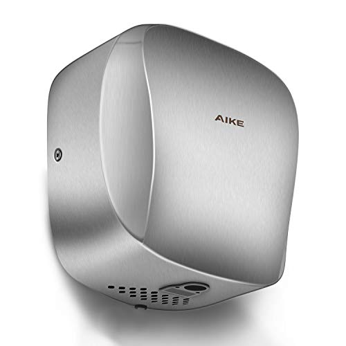 AIKE AK2903 Heavy Duty Commercial Hand Dryer with Hepa Filter Brushed Stainless Steel UL Approved