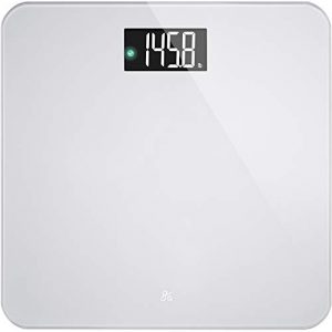 AccuCheck Digital Body Weight Scale from Greater Goods, Patent Pending Technology (Silver Glass)