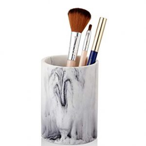 ZCCZ Bathroom Tumbler Cup, Toothbrush Holder Vanity Countertop Holder Stand Organizer for Toothbrushes, Make-up Brushes, Toothpaste, Eye Liners, Pencil, Pen, Razor and More