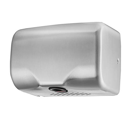 ASIALEO Commercial Hand Dryer High Speed Automatic Electric Hand Dryers for Bathrooms Restrooms Heavy Duty Hot/Cold Air Stainless Steel Cover Surface Mount Innovative Compact Design Easy Installation