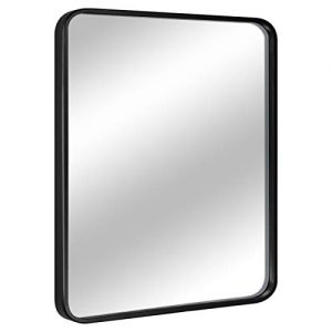 "EPRICA Wall Mirror for Bathroom, Rectangle Mirror with 1"" Black Metal Frame for Bathroom, Entryway, Living Room & More, Hangs Horizontal Or Vertical (32 x 24"")"