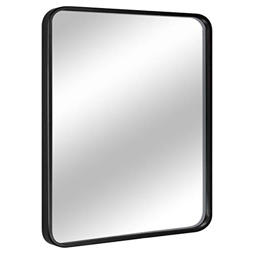 """EPRICA Wall Mirror for Bathroom, Rectangle Mirror with 1"""" Black Metal Frame for Bathroom, Entryway, Living Room & More, Hangs Horizontal Or Vertical (32 x 24"""")"""