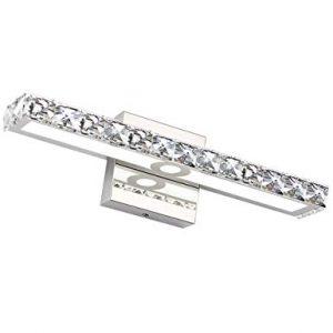 LED Vanity Lights,SOLFART Crystal Wall Mirror Vanity Light Fixtures for Bathroom Vanity Bedroom Lighting