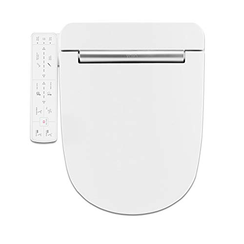 VOVO VB3100SR Electronic Bidet Toilet Seat,Round, White,LED Nightlight, Power Save, Heated Seat&Dryer,Warm Water, Full Stainless Nozzle,Soft Close, Made in Korea