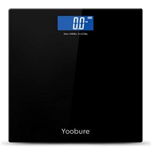 Precision Digital Body Weight Scale Bathroom Scale with Step-On Technology and Tempered Right Angle Glass Balance Platform