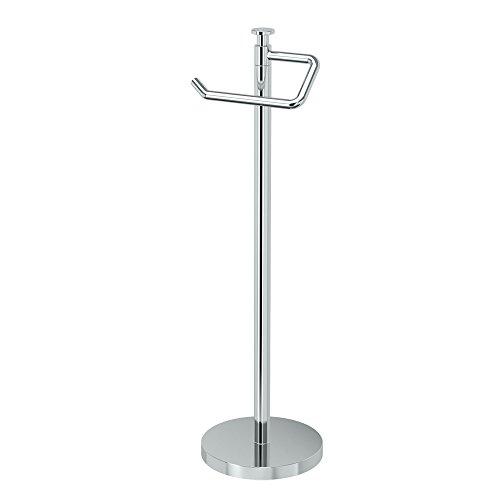 Gatco 1435C, Freestanding Toilet Paper Holder, 23.5 H, Chrome