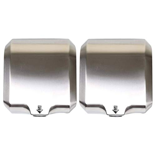 Goetland Stainless Steel Commercial Hand Dryer 1800w Automatic High Speed Heavy Duty Dull Polished Pack of 2