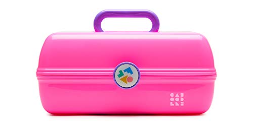 Caboodles Miami beat - on-the-go girl cosmetic organizer, Neon Pink Base With/ Lavender Handle