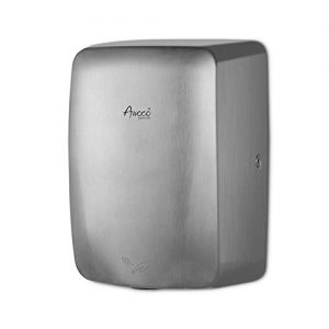 Awoco Compact Stainless Steel Automatic High Speed Commercial Hand Dryer, 1350W 120V UL Listed, 1 Year Warranty (Compact)