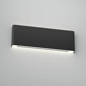 Aipsun 15.75in Matte Black Modern Vanity Light Up and Down LED Vanity Light for Bathroom Wall Lighting Fixtures (White Light 5000K)