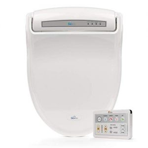 BioBidet Supreme BB-1000 Elongated White Bidet Toilet Seat Adjustable Warm Water, Self Cleaning, Wireless Remote Control, Posterior and Feminine Wash, Electric Bidet, Easy DIY Installation 3 in 1 Nozzle, Power Save Mode is Eco Friendly