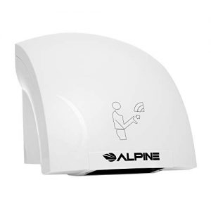 Alpine Hazel Automatic Hand Dryer | ABS Polycarbonate Hands Drying Device | Ultra-Quiet High Speed Hot Air Hand Blower | No Touch Operation | Easy & Fast Installation