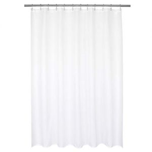 Barossa Design Waterproof Fabric Shower Curtain or Liner Hotel Quality, Machine Washable, White Shower Curtain Liner for Bath Tub, 72x72 Inches