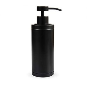 Zegeon Matte Black Soap Dispenser Hand Metal Pump Lotion Bottle for Bathroom, Bedroom and Kitchen