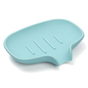 BiYiNi Silicone Soap Dish with Drain, Soap Dish with Draining Tray, Silicone Soap Case Holder Saver for Shower, Bathroom, Kitchen, Bath Tub, Sink Deck, Sponges, Easy to Clean, Dry, Stop Mushy Soap