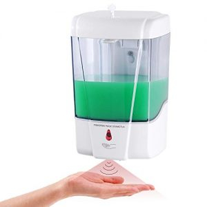 PLUSSEN Automatic Soap Dispenser Wall Mount, Hand Sanitizer Dispenser 600ml Gel/Liquid Touchless Hand Soap Dispenser for Home Hospital School Office