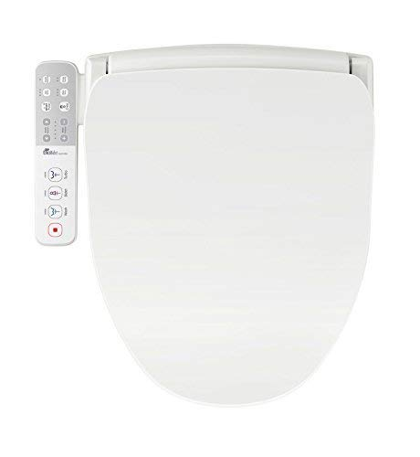 Bio Bidet Slim One Smart Toilet Seat in Round White with Stainless Steel Self-Cleaning Nozzle, Nightlight, Turbo Wash, Oscillating and Fusion Warm Water Technology