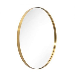 ANDY STAR Oval Wall Mirror | 22x30'' Modern Gold Bathroom Mirror with Stainless Steel Metal Frame 1'' Deep Set Design