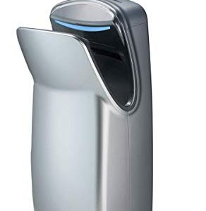 World Dryer V-649A VMax Vertical Hand Dryer, 110-120V, High-Impact ABS Cover in Silver