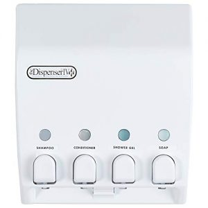 Better Living Products 71450 Classic 4-Chamber Shower Dispenser, White