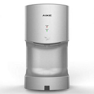 AIKE AK2630T Silver Automatic Jet Hand Dryer with Drain Tank 1400W, ABS Cover