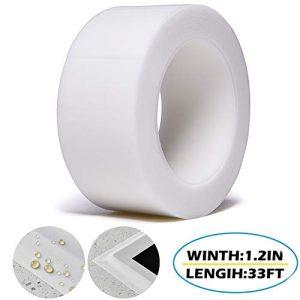 TYLife Adhesive Caulk Strip,Waterproof Mildew Caulking Seal Tape for Bathtub Bathroom Kitchen Sink Basin Edge Shower Toilet and Wall Sealing (59/50 Inch Width x 33Feet Length (White))